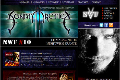 Webzine Nightwish France